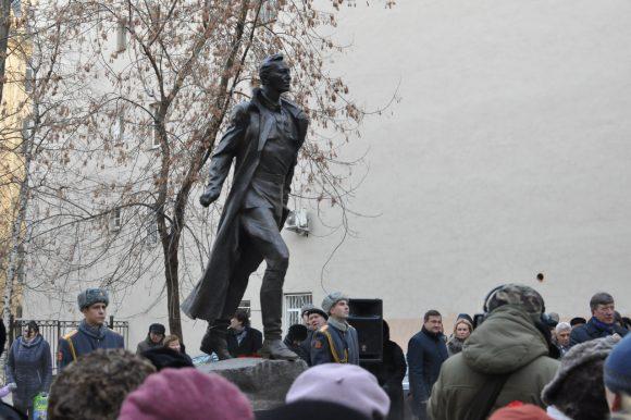 Открытие памятника Михаилу Дудину