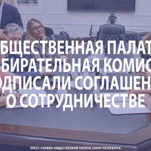 Общественная палата и Санкт‑Петербургская избирательная комиссия подписали соглашение о сотрудничестве