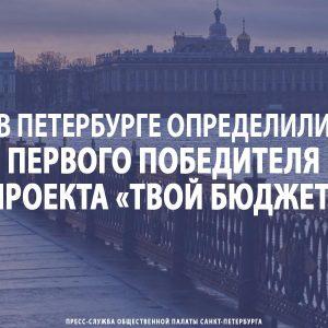 В Петербурге определили первого победителя проекта «Твой бюджет»